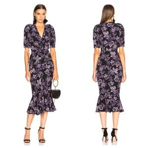Veronica Beard Kent dress purple